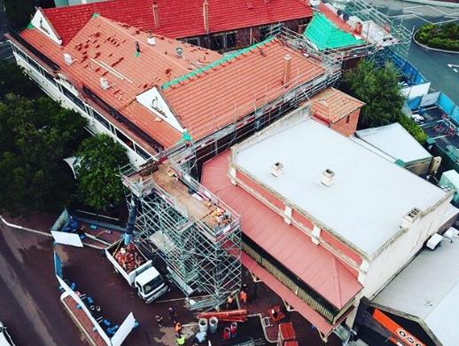 Kalamunda Hotel Roofing Project Ariel view